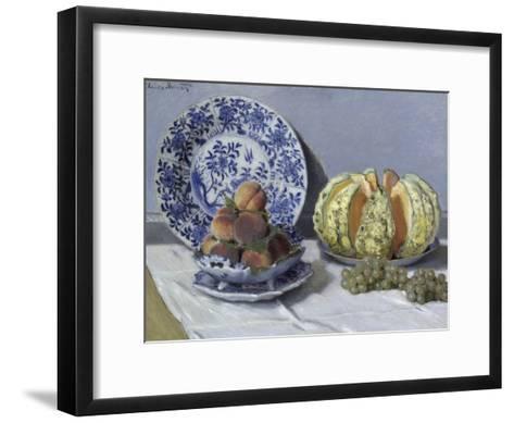 Still Life with Melon-Claude Monet-Framed Art Print