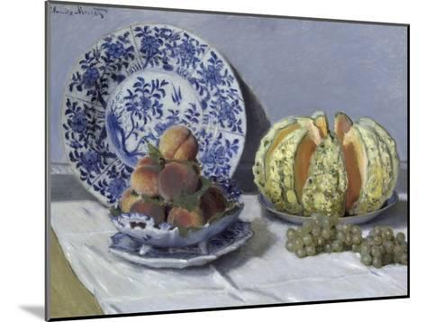Still Life with Melon-Claude Monet-Mounted Giclee Print