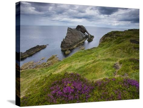 Bow Fiddle Rock, Portknockie, Scotland-Roland Gerth-Stretched Canvas Print