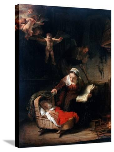 Holy Family by Rembrandt van Rijn--Stretched Canvas Print