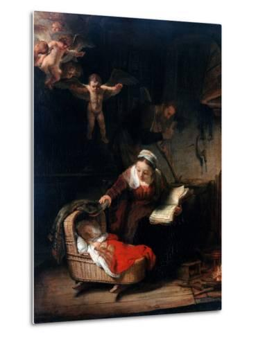 Holy Family by Rembrandt van Rijn--Metal Print
