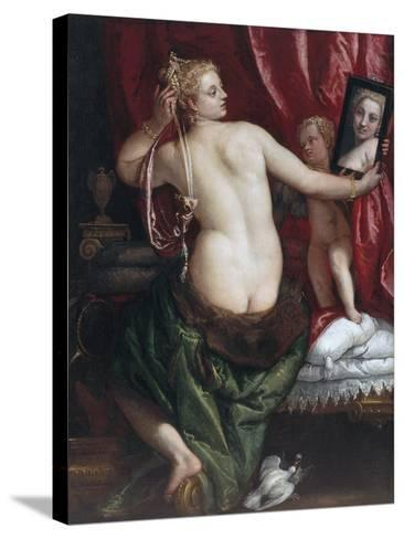 Venus with a Mirror (Venus at Her Toilette) by Paolo Veronese--Stretched Canvas Print