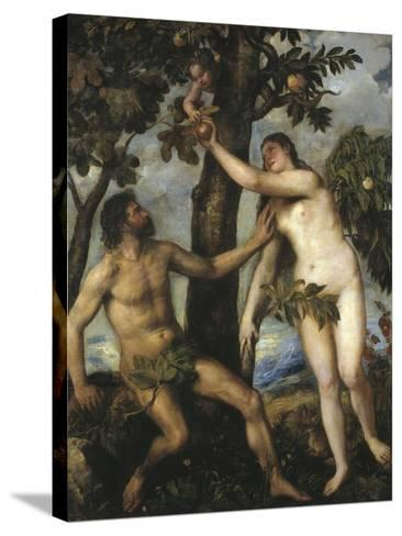 Adam and Eve-Titian (Tiziano Vecelli)-Stretched Canvas Print