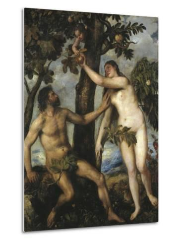 Adam and Eve-Titian (Tiziano Vecelli)-Metal Print