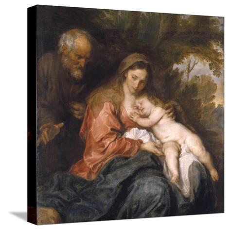 Rest on the Flight into Egypt by Anthony van Dyck--Stretched Canvas Print