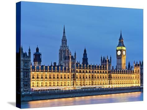 Big Ben Clock Tower and Houses of Parliament-Rudy Sulgan-Stretched Canvas Print