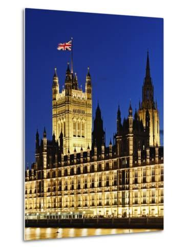 Victoria Tower and Houses of Parliament-Rudy Sulgan-Metal Print