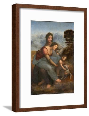 Virgin and Child with St. Anne by Leonardo da Vinci--Framed Art Print