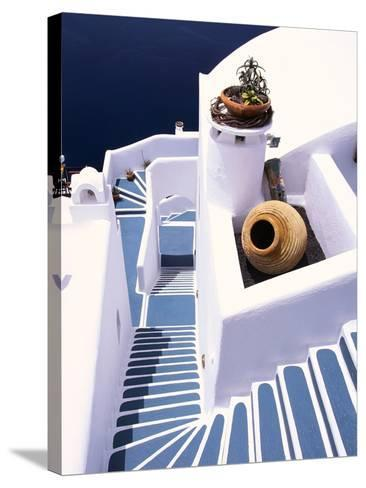 Stairway of a Whitewashed Church-Jonathan Hicks-Stretched Canvas Print