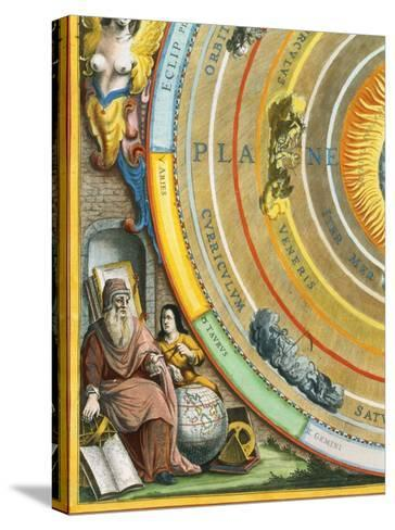 Detail of The Planisphere of Ptolemy Plate from The Celestial Atlas-Andreas Cellarius-Stretched Canvas Print