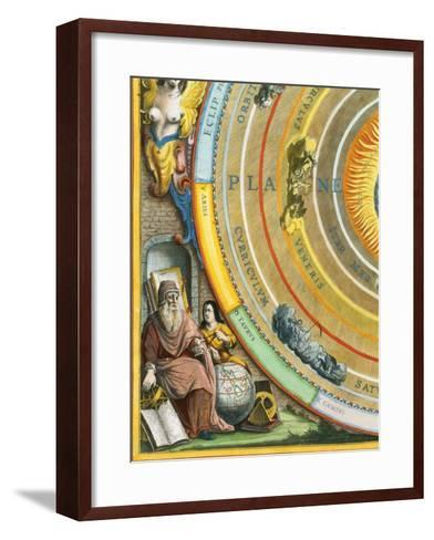 Detail of The Planisphere of Ptolemy Plate from The Celestial Atlas-Andreas Cellarius-Framed Art Print