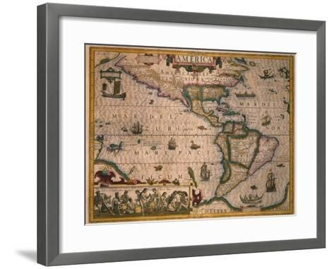 Map of America-Gerardus Mercator-Framed Art Print