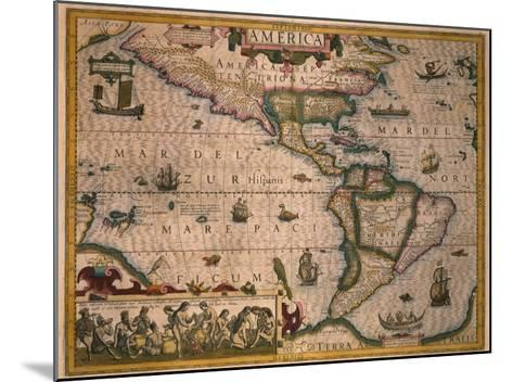 Map of America-Gerardus Mercator-Mounted Giclee Print