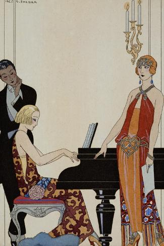 Incantation-Georges Barbier-Stretched Canvas Print