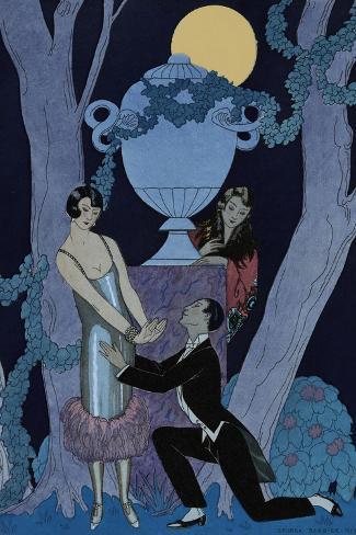 L'Olsarice-Georges Barbier-Stretched Canvas Print