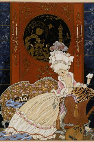 Love Letter-Georges Barbier-Stretched Canvas Print