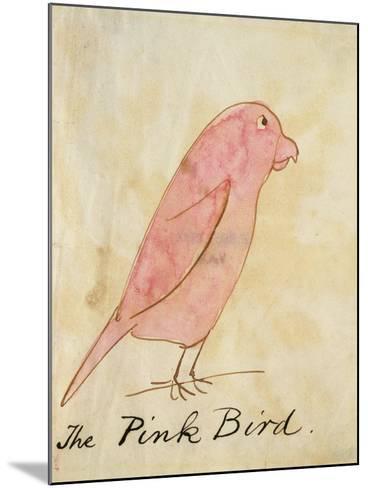 The Pink Bird-Edward Lear-Mounted Giclee Print