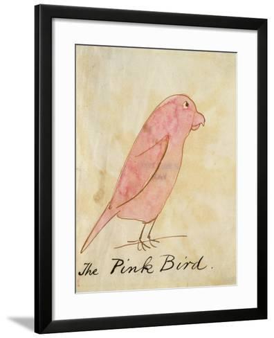 The Pink Bird-Edward Lear-Framed Art Print