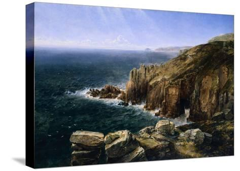 The Land's End, Cornwall-Thomas Creswick-Stretched Canvas Print