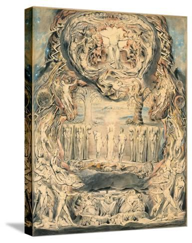 The Fall of Man-William Blake-Stretched Canvas Print
