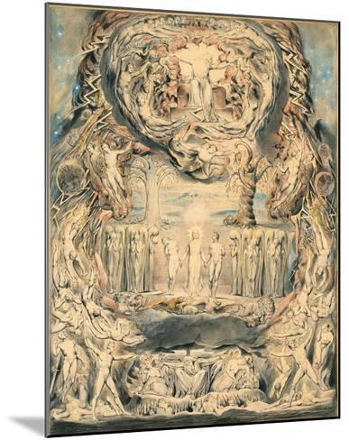 The Fall of Man-William Blake-Mounted Giclee Print