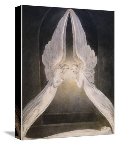 The Angels Hovering Over the Body of Jesus in the Sepulchre-William Blake-Stretched Canvas Print