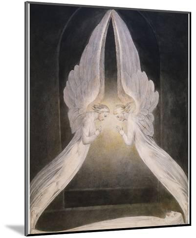 The Angels Hovering Over the Body of Jesus in the Sepulchre-William Blake-Mounted Giclee Print