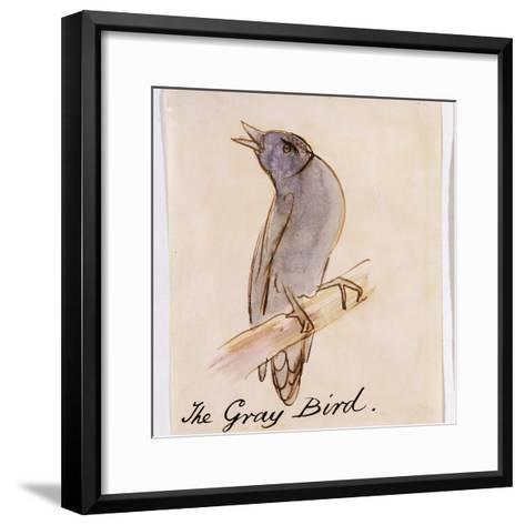 The Gray Bird-Edward Lear-Framed Art Print