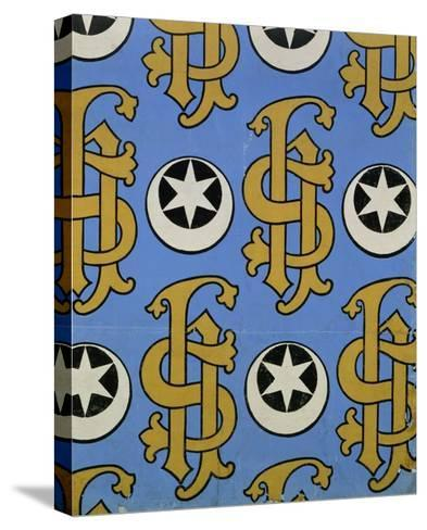 Star and Clef Ecclesiastical Wallpaper Design by Augustus Welby Pugin-Stapleton Collection-Stretched Canvas Print