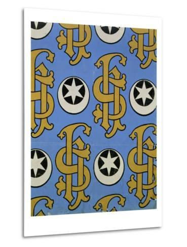 Star and Clef Ecclesiastical Wallpaper Design by Augustus Welby Pugin-Stapleton Collection-Metal Print