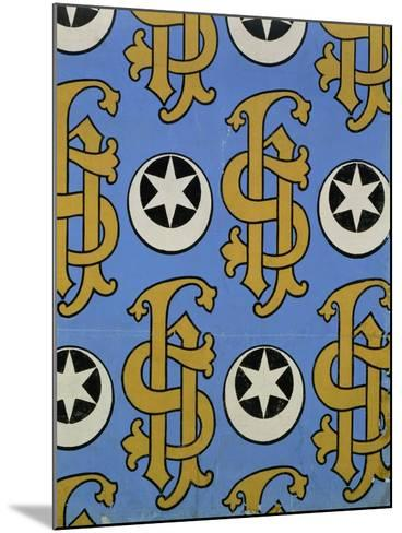 Star and Clef Ecclesiastical Wallpaper Design by Augustus Welby Pugin-Stapleton Collection-Mounted Giclee Print