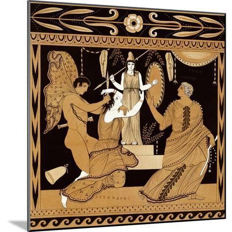19th Century Greek Vase Illustration of Cassandra with Apollo and Minerva-Stapleton Collection-Mounted Giclee Print