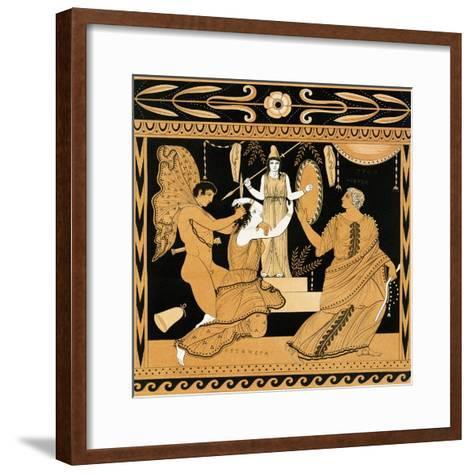 19th Century Greek Vase Illustration of Cassandra with Apollo and Minerva-Stapleton Collection-Framed Art Print