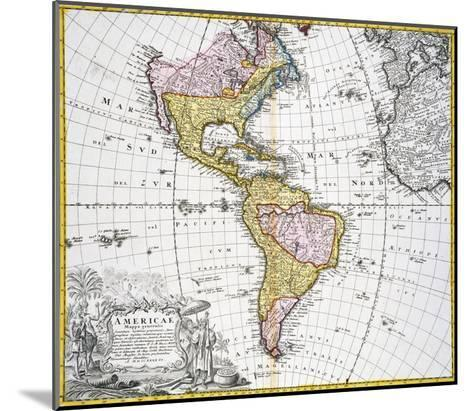 Map of the Americas by August Gottlieb Boehme-Stapleton Collection-Mounted Giclee Print