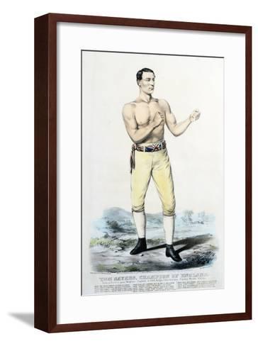 Tom Sayers, Champion of England-Stapleton Collection-Framed Art Print