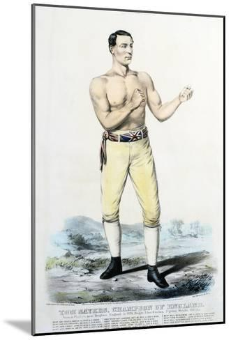 Tom Sayers, Champion of England-Stapleton Collection-Mounted Giclee Print