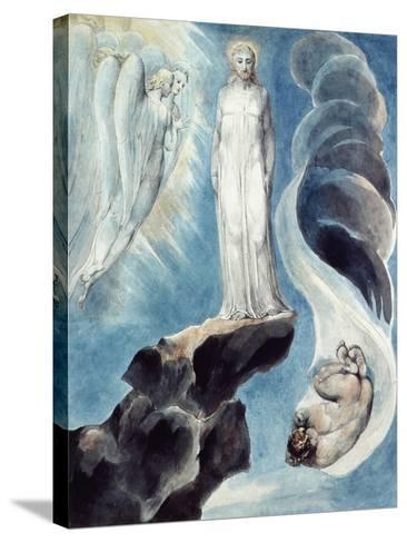 The Third Temptation-William Blake-Stretched Canvas Print