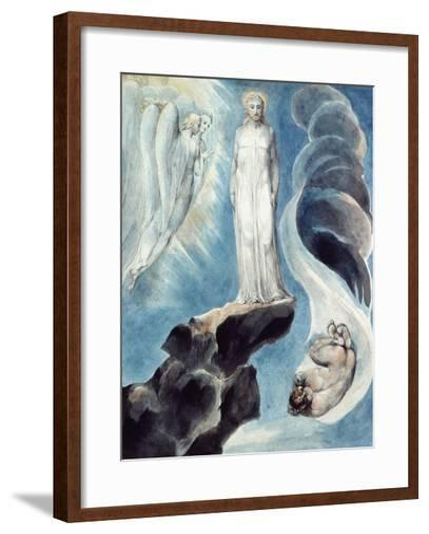 The Third Temptation-William Blake-Framed Art Print