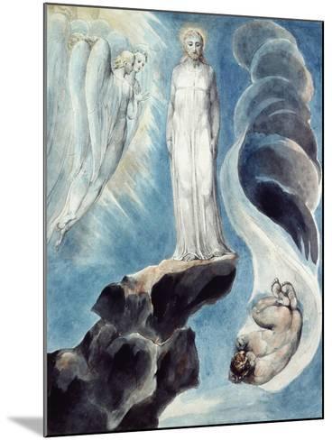 The Third Temptation-William Blake-Mounted Giclee Print