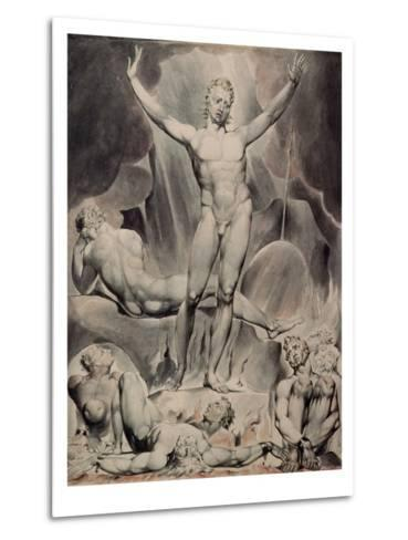 Satan Arousing the Rebel Angels-William Blake-Metal Print