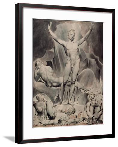 Satan Arousing the Rebel Angels-William Blake-Framed Art Print