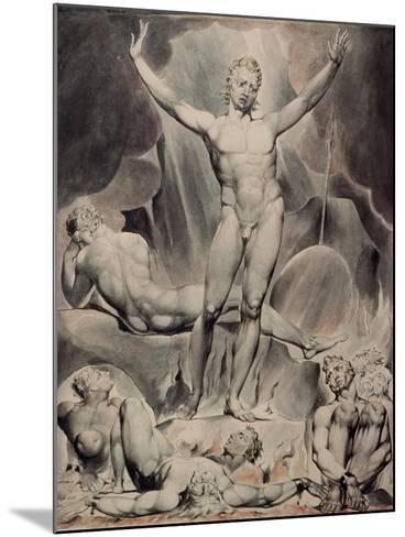 Satan Arousing the Rebel Angels-William Blake-Mounted Giclee Print