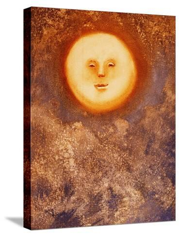 Moon and Clouds-Lou Wall-Stretched Canvas Print