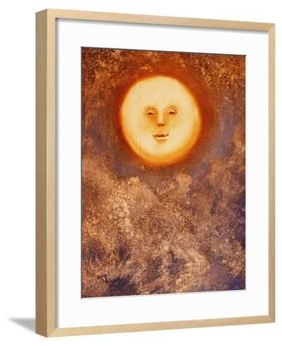 Moon and Clouds-Lou Wall-Framed Art Print