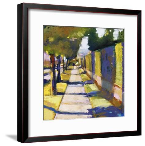 Hedge Wall-Lou Wall-Framed Art Print
