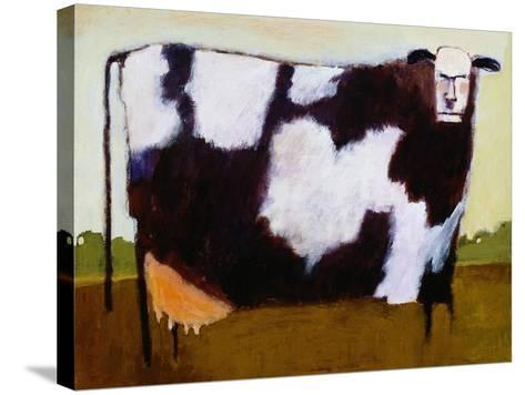 Cow-Lou Wall-Stretched Canvas Print