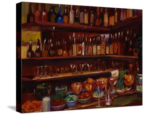 Behind the Bar, Florence-Pam Ingalls-Stretched Canvas Print