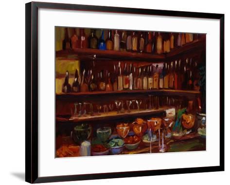 Behind the Bar, Florence-Pam Ingalls-Framed Art Print