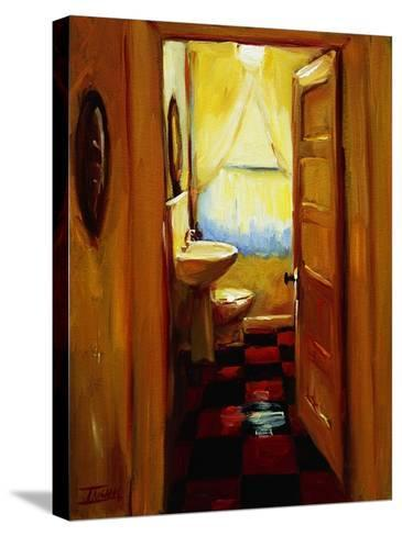 Marci's Bathroom-Pam Ingalls-Stretched Canvas Print