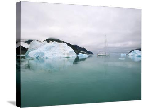 Sailboat Cruising the Arctic-Onne van der Wal-Stretched Canvas Print